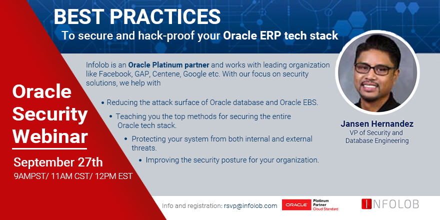 Best Practices to secure and hack-proof your Oracle ERP tech stack