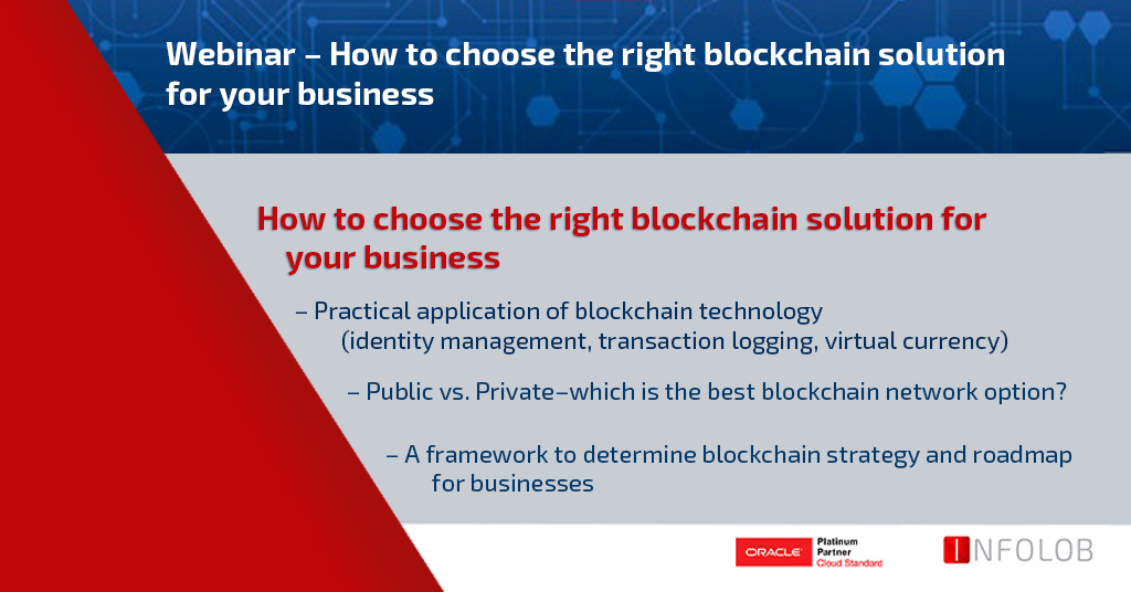 Webinar – How to choose the right blockchain solution for your business