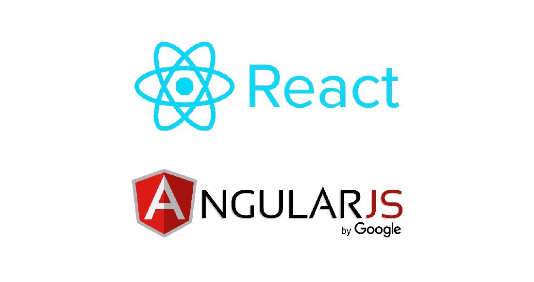 React and Angular JS logos