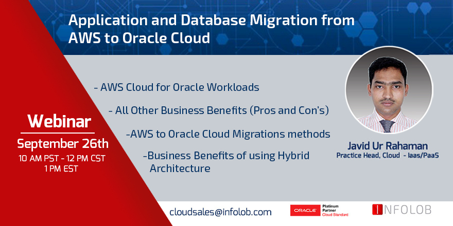 Application and Database Migrations from AWS to Oracle Cloud Webinar